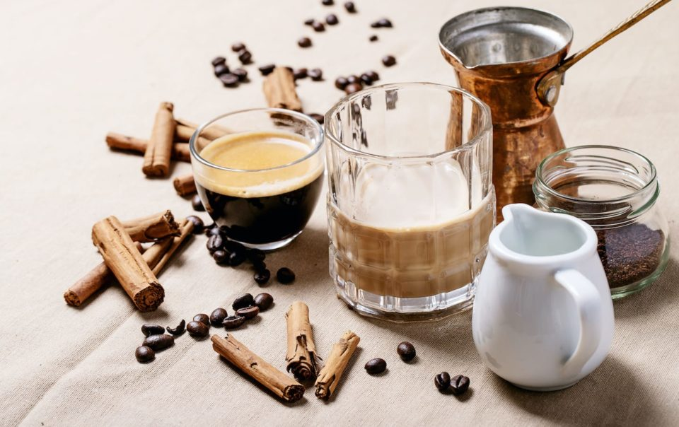 Fresh Coffee with Cinnamon